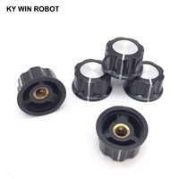 potentiometer knob 5pcs/lot MF-A03 A03 Potentiometer Knob Cap Inner 6mm 28x15mm Rotary Switch Bakelite Knob copper core inner for WHT118 WX050 (3)