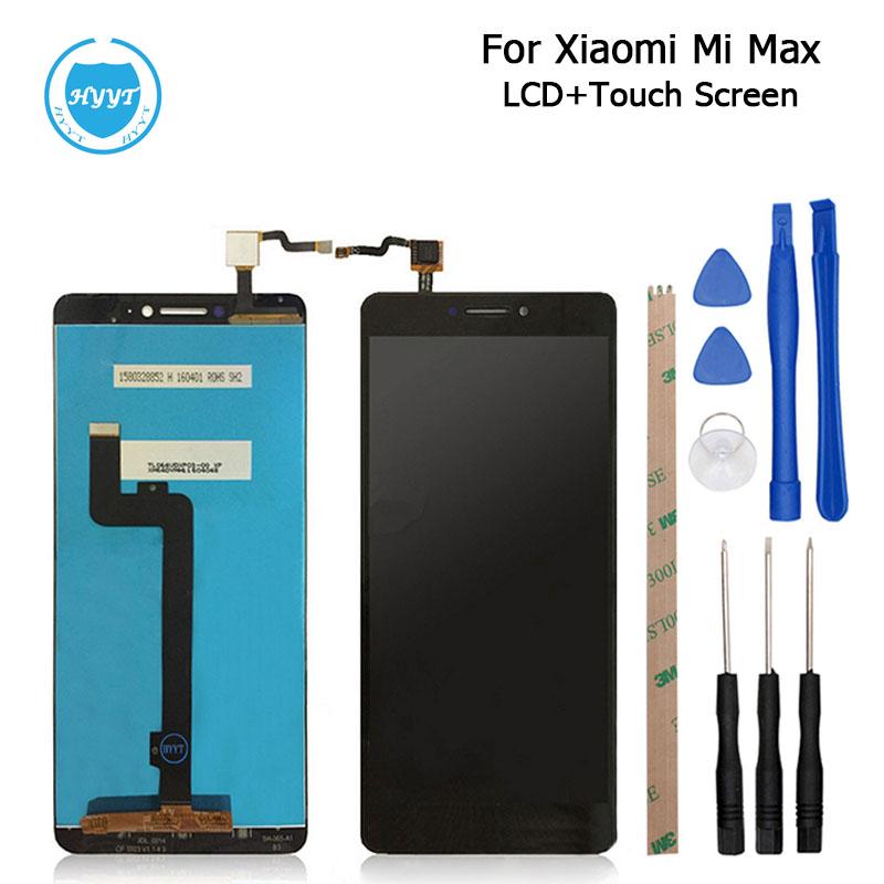 Prix pour Pour xiaomi mi max écran lcd display + écran tactile 100% d'origine digitizer assemblée remplacement pour xiaomi max téléphone portable + outils