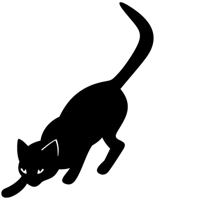 length:65cm 2X Pouncing Cat Car Sticker For Cars Side, Truck Window ,Auto SUV Door Kayak Vinyl Decal 8 Colors DA0232zhang sunshade sun block for car side window black 65 x 38cm