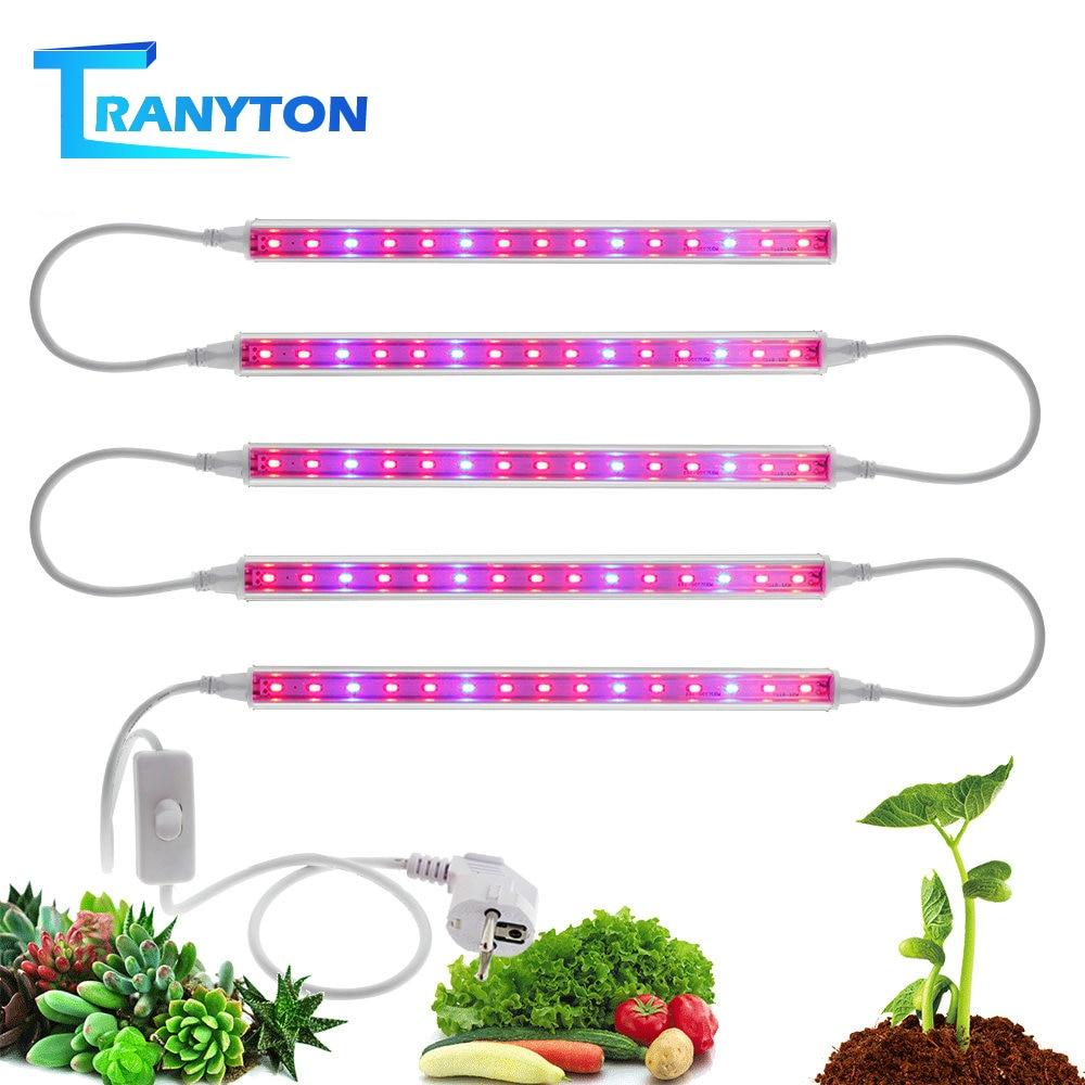 LED Grow Light Plant Light 5730 T5 Tube Full Spectrum Phyto Lamps For Flower Seedling Indoor Hydroponic Plants EU/US/UK/AU Plug