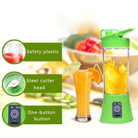 380ml Portable USB Rechargeable Blender Mixer Portable Juicer Juice Machine Smoothie Maker Household Small Juice Extractor|Manual Juicers|Home & Garden -