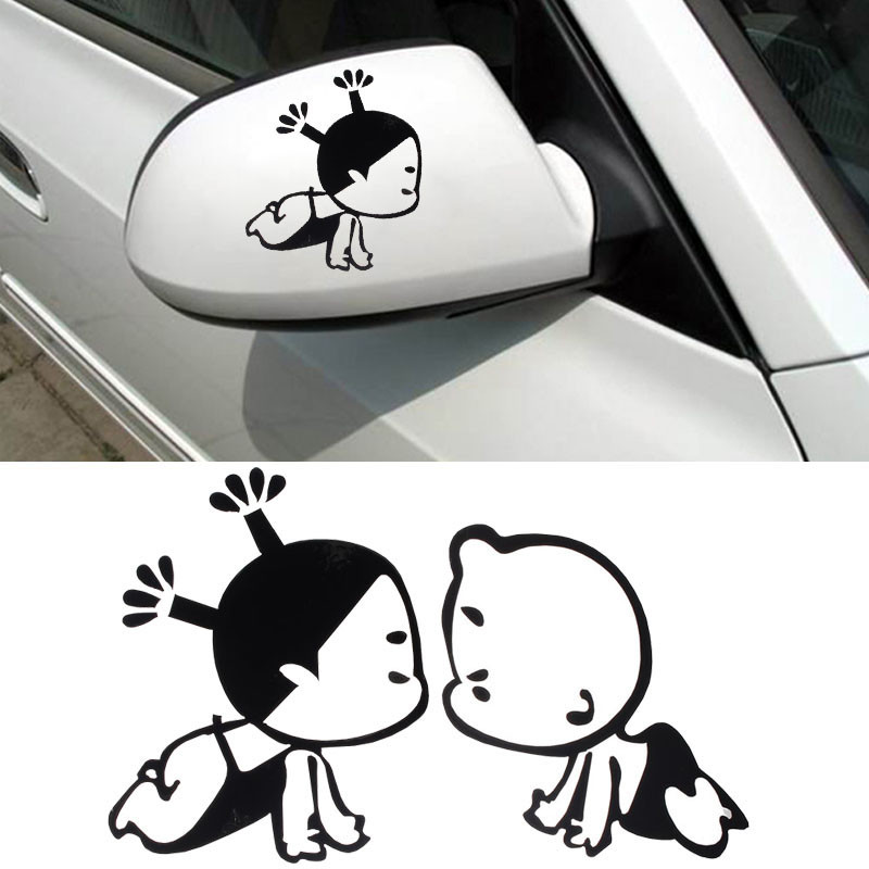 CARPRIE Hot selling 3d Baby On Board Fashion Child Design 3D Decoration Sticker For Car Side Mirror Rearview Dropship J30