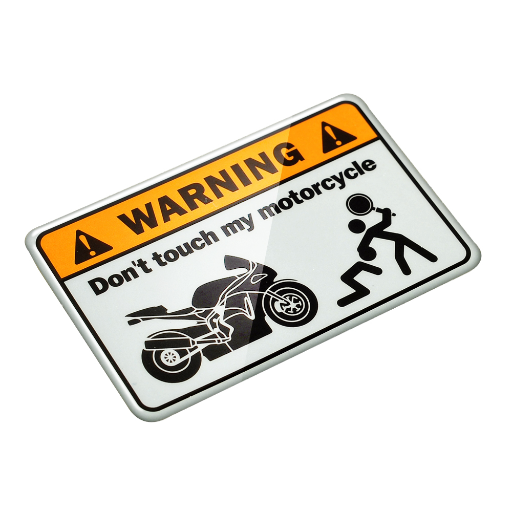 Universal 3d warning dont touch my motorcycle decals tank stickers motorbike ninja tank stickers