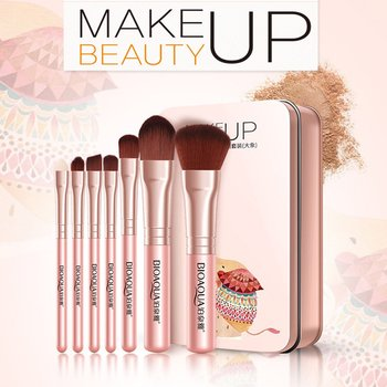 7PCS/SET Professional Women Facial Makeup Brushes Face Cosmetic Beauty Eye Shadow Foundation Blush Brush Tools Eye Shadow Applicator