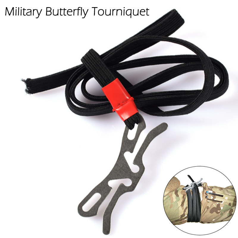 Emergency Medical Tourniquet Combat Butterfly Shape Outdoor First Aid Tool Portable Camping Animal Survival Tourniquet Strap