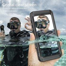 مقاوم للماء الحال بالنسبة لسامسونج S10e S8 S9 زائد نوت 8 S8P S9P S20 الترا للصدمات السباحة الغوص غطاء