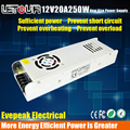 New Mini Size 12V 20A 250W Power Supply AC 96V-240V Input DC 12V Power 250W LED Driver for LED Lighting,LED Strip,CCTV,CE/FCC