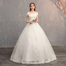 Aplikacja suknie balowe koronkowe suknie ślubne 2019 Plus rozmiar Vintage chiny suknia ślubna suknia ślubna księżniczka Real Photo