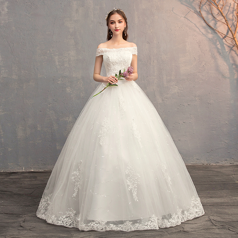 2019 Wedding Ball Gowns: Applique Ball Gowns Lace Wedding Dresses 2019 Plus Size