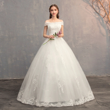 Applique Ball Gowns Lace Wedding Dresses 2019 Plus Size Vintage China Bridal Dress Princess Wedding Gown Real Photo