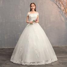 Applique Gowns ชุดแต่งงานลูกไม้ 2019 PLUS ขนาด VINTAGE จีนชุดเจ้าสาวเจ้าหญิงงานแต่งงานชุด Real Photo