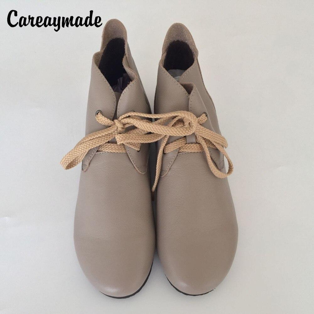 e3cddf372 Careaymade-женские ботильоны, лидер продаж ручной работы верхний слой обувь  из натуральной кожи в стиле ретро ботинки Японский моды Сен обувь    Ботильоны с ...