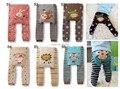 Moda de Invierno Ropa de Bebé de Dibujos Animados Elástica pantalones Del Niño Del Algodón Pantalones de Los PP Busha Caliente Unisex Medias Leggings 6 unids/lote