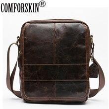 COMFORSKIN Guarantee 100% Premium Genuine Leather Hot Sales Solid Men Cross-body Bags