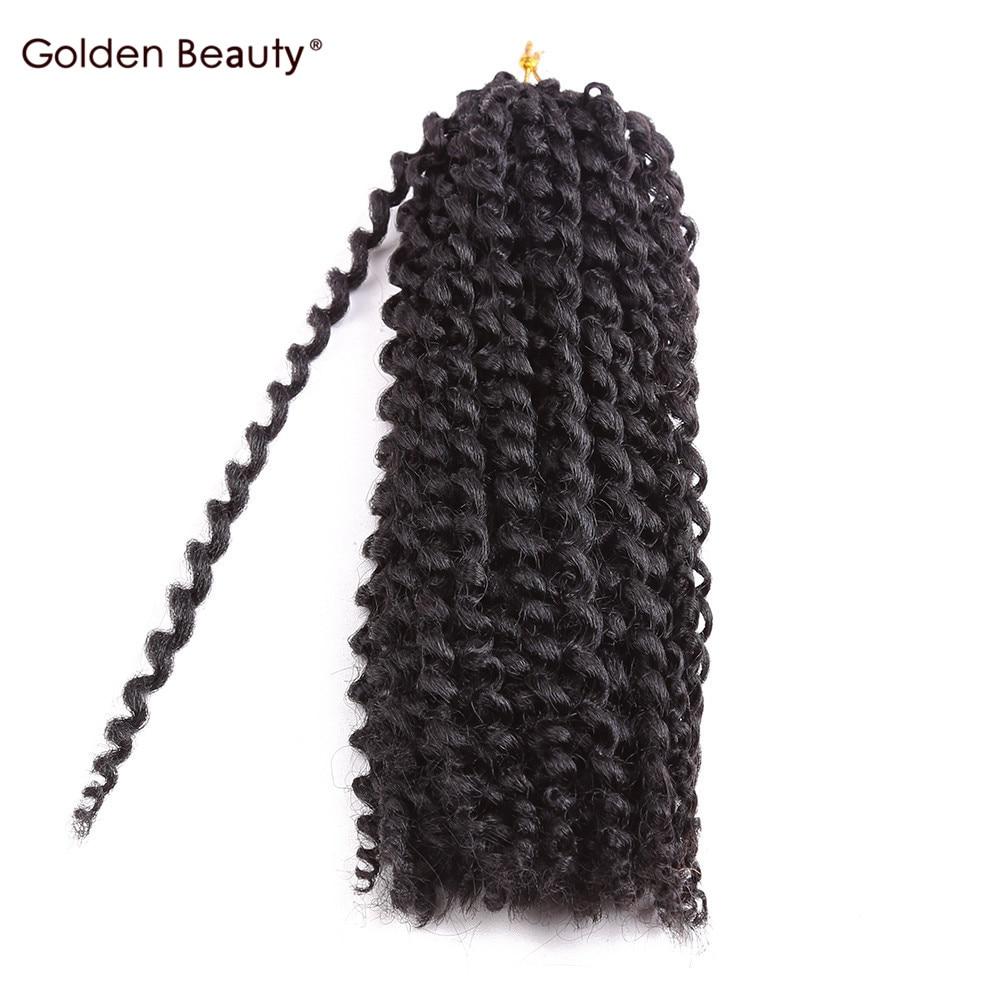 Golden Beauty Extensiones de cabello de ganchillo de 8-12 pulgadas - Cabello sintético
