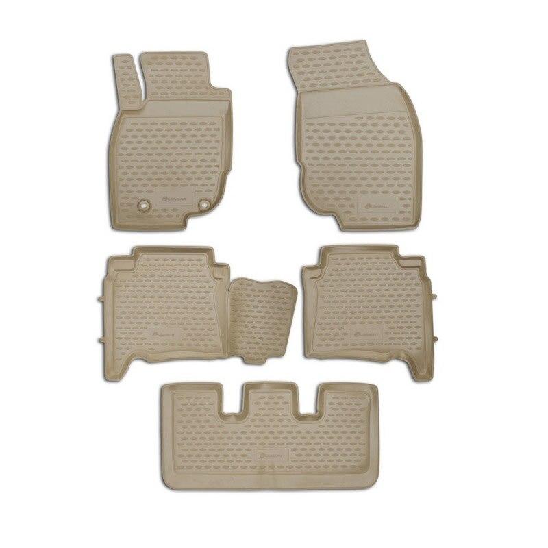 5PCS для Toyota Fortuner 2013-17 противоскользящий напольный коврик легко моется быстросохнущий водонепроницаемый коврик для ног