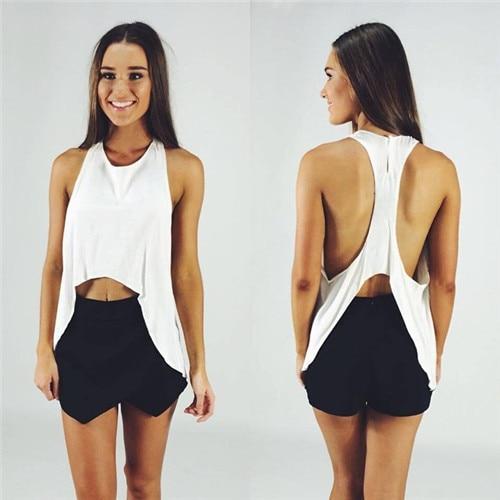 Vestido de verano, mujeres del estilo 2 unidades conjunto blanco negro  pantalones cortos sueltos vestidos