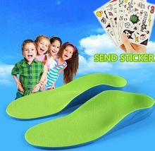 Kids Children Orthopedic Insoles for Children Shoes Flat Foot Arch Support Orthotic Pads Correction Feet Care