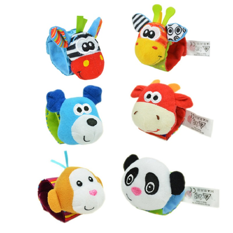Купить с кэшбэком Baby Born Infant Soft Socks Wrist Rattle Set Best Newborn Gift Toys for Children Boy Girl Baby Rattle Educational Toys Christmas