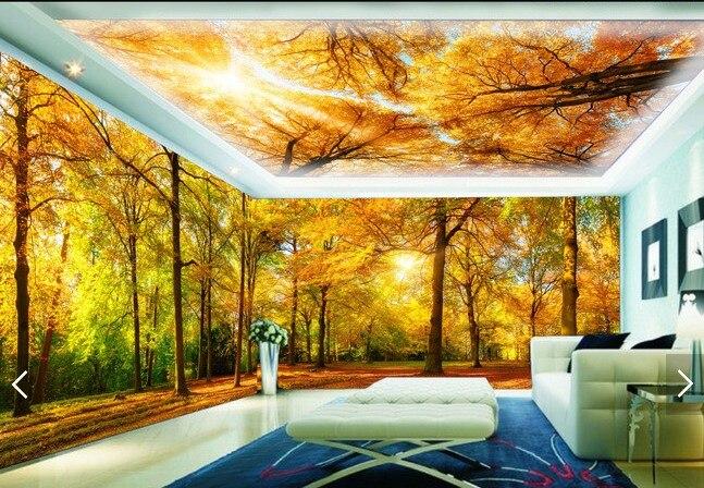 Buy trees wallpaper landscape mural 3d for Tree wallpaper for home