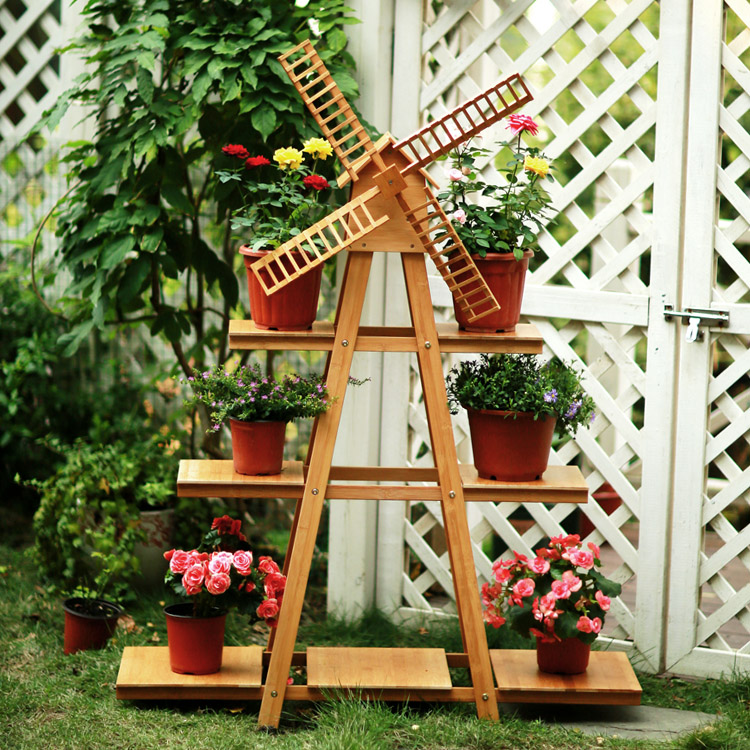 Buy solid wood balcony windmill flower - Decoration balcon long et etroit ...