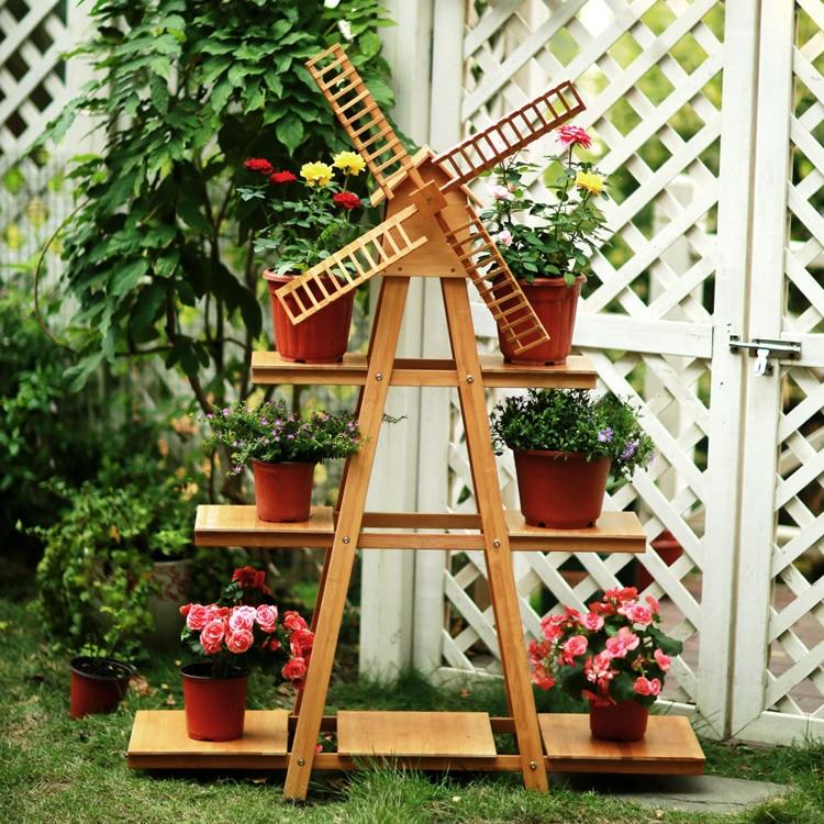 Buy solid wood balcony windmill flower - Decoration balcon long et etroit ...