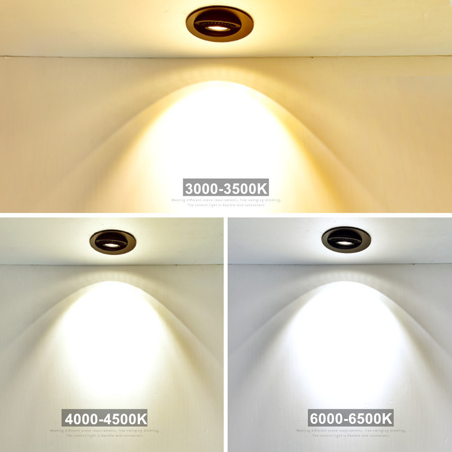 HTB1.ycibEGF3KVjSZFmq6zqPXXag Dimmable Led Down light lamp COB Ceiling Light 5w 7w 10w 12w 85-265V recessed ceiling Spot Lights for kitchen bedroom home Decor