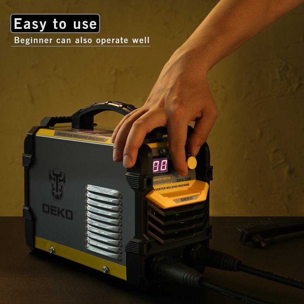 DEKO DKA-200Y 200A 4.1KVA инвертор дуговой электросварочный аппарат 220В MMA сварочный инструмент для дома/промышленной сварки
