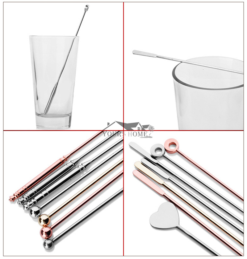 1 Piece 8 Style Stainless Steel Mixing Cocktail Spoon Spiral Pattern Bar Spoon Stir Spoon Bar Tool Bartender Tool in Bar Spoons from Home Garden