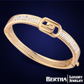 Nueva llegada charm bracelet mujeres micro pave genuino cristal de swarovski bileklik bijoux pulseras mujer 2016 joyería de moda