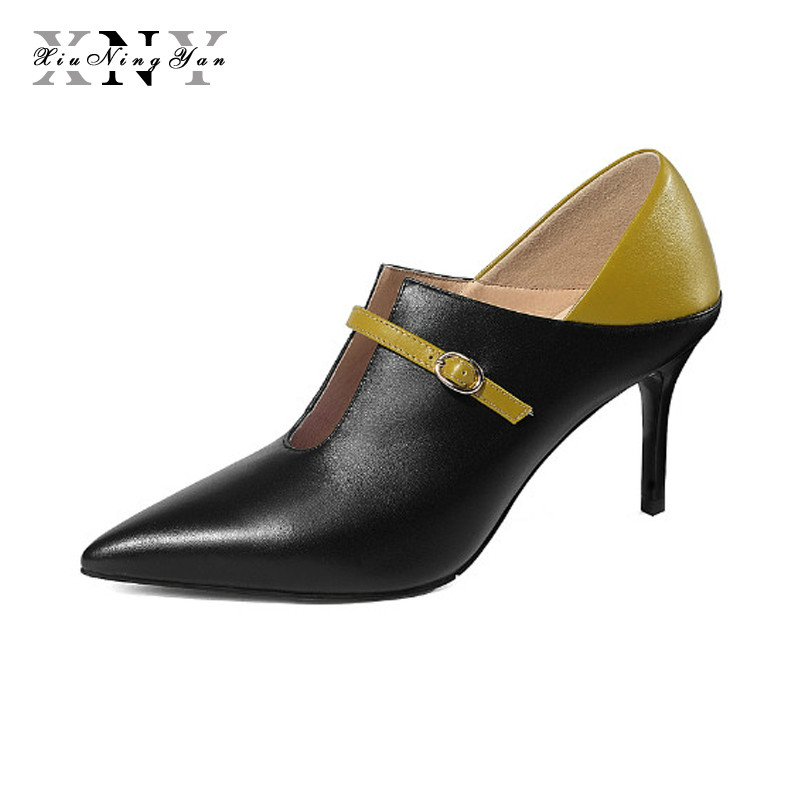 XiuNingYan Women Shoes High Heels Brand Woman Pumps Pointed Toe Black Ladies Dress Shoes Heels Women Party Shoes Chaussure Femme shofoo newest women shoes med heels pointed toe pumps for woman dress