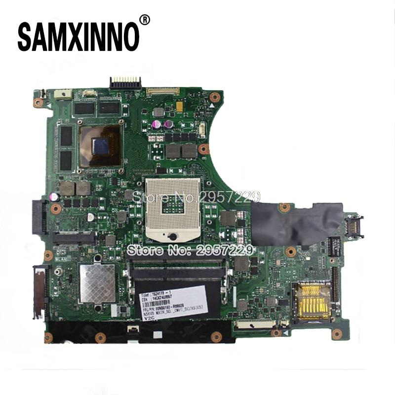 N56VJ N56VM N56VB N56VZ N56V Laoptop Motherboard For Asus N56vm REV2.3 Mainboard With GT635M 2G Ram PGAP89 HM76 90days Warranty for asus f5rl x50rl rev 2 0 laptop motherboard mainboard 08g2005fr20v 90days warranty