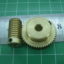 0.5M - 30Teeths Worm Gear+Rod  High Speed Reduction Ratio 1:30 Toys Speed Reducer Motor Accessories cheap nmrv030 worm gearbox speed reducer ratio 15 1 reducer matched with nema23 servo stepper motor promotional