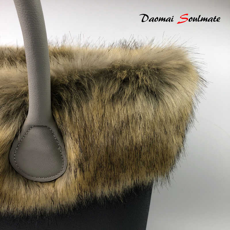 e6331a0f9105 High Quality Eva handbag Accessories Faux fur fox s Trim Trims Thermal Plush  Decoration for Classic Mini