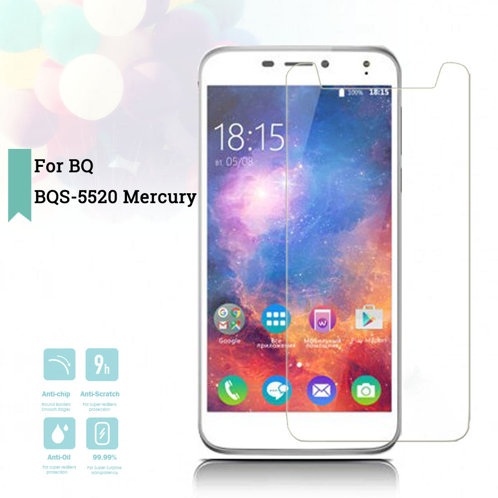 2.5D 0.26mm Ultra Thin Tempered Glass <font><b>BQ</b></font> <font><b>BQS</b></font>-<font><b>5520</b></font> <font><b>Mercury</b></font> Toughened Protector Film Protective Screen Case Cover Universal image