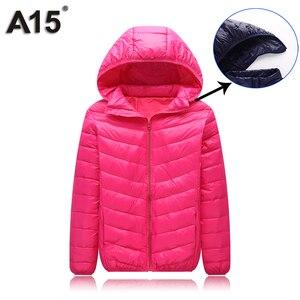 Image 5 - A15 Çocuk Giyim sıcak tutan kaban 2019 Kız Ceket Bahar Sonbahar Kış Kapüşonlu Yürümeye Başlayan Genç Ceketler Erkek Yaş 10 12 14 16 Y