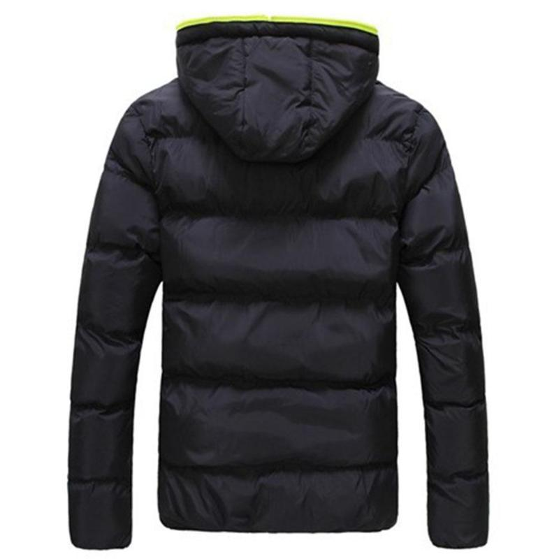 2019 Winter Cotton Warm Outwear Parka Winter Jacket Men Hooded Collar Coat Mens Warm Down Casual Coats with Zipper Pocket 7