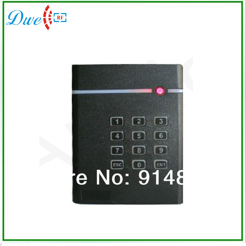 Free shipping  12V low cost door access control rfid reader 13.56mhz passive  IC keypad  reader wiegand 26 output format free shipping 125khz 12v wiegand 26 output format door access control rfid reader