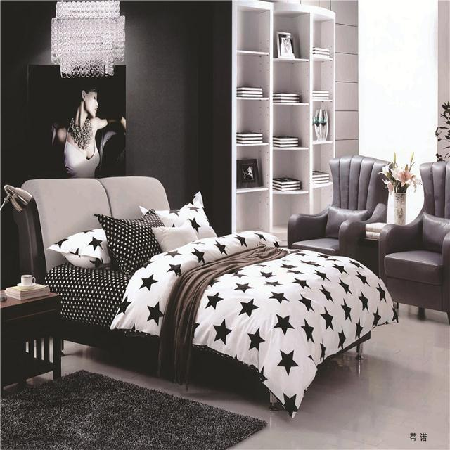 Delicieux Unique Design Black And White Checkered Bedroom Supplies 100%cotton Bedding  Set 4pcs Bed Cover/bed Linen/bedspread/pillowcases In Bedding Sets From  Home ...