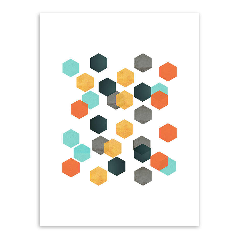 Geometry Painting Art Wall Pictures for Living Room Garden Decoration Colorful Texture Poster Frameless Ohio State Friends Tv