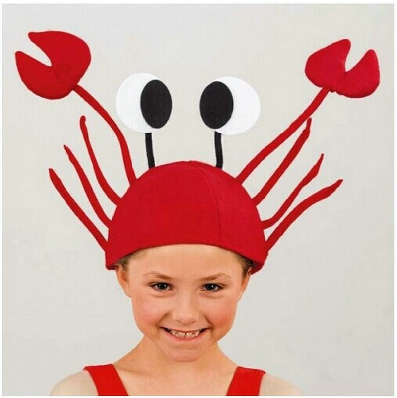 costumes accessories hats 3 d red crabs lobster hat christmas halloween costume party anime cosplay funny props in boys costume accessories from