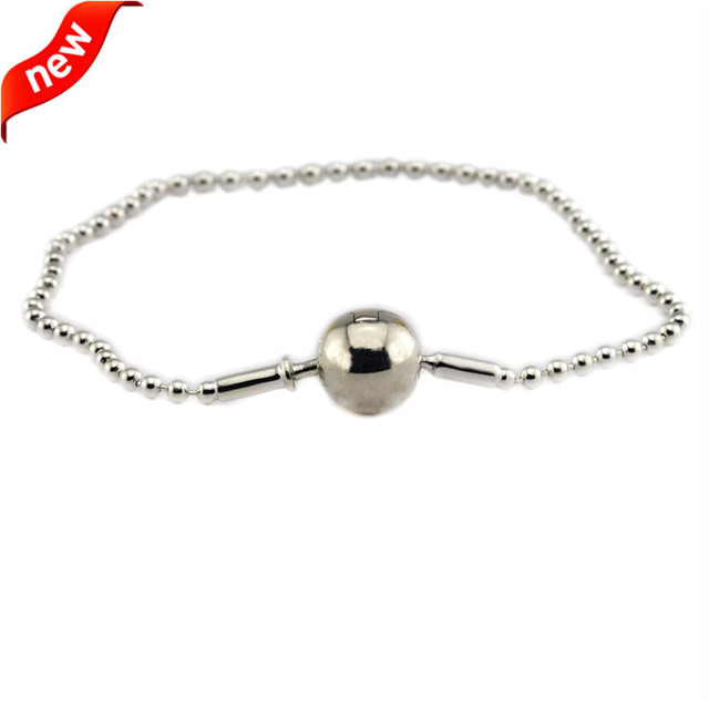 327bec848 Beaded Essence Clasp Bracelets 925 Sterling Silver Jewelry Free Shipping