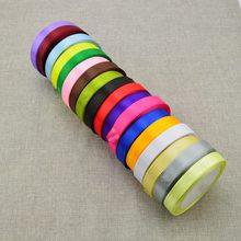 18 цветов дешевые 15 мм 25 ярдов шелковая атласная лента свадебные автомобильные вечерние украшения ручной работы подарочные упаковочные принадлежности для скрапбукинга