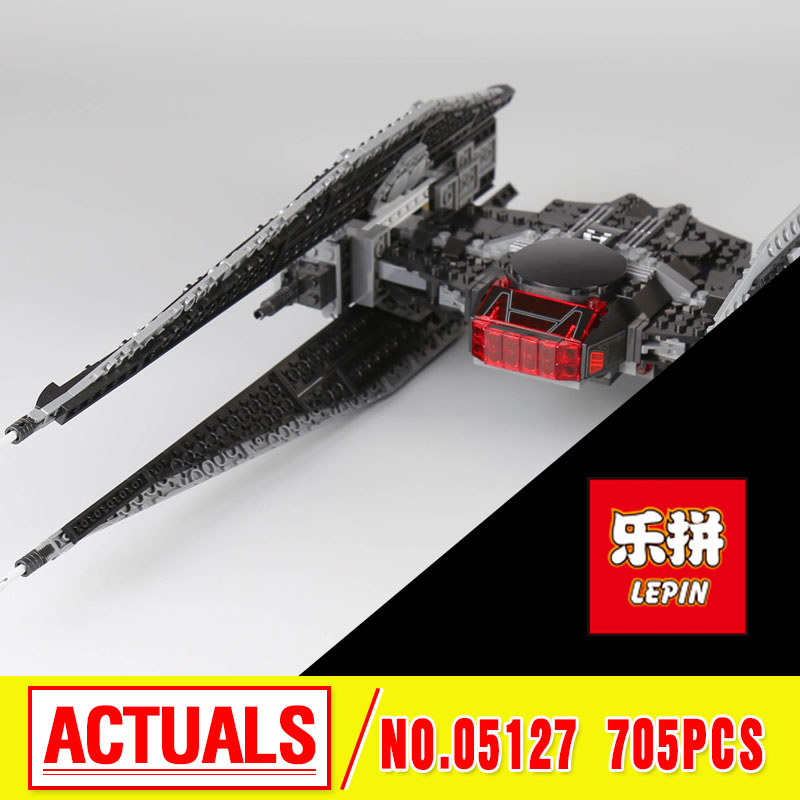 Lepin 05127 The Tie Model Fighter 705Pcs Star Plan Series War Building Blocks Bricks Educational Christmas Gifts  75179 rollercoasters the war of the worlds