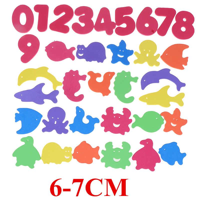 Juguete flotante para baño para niños de 34 uds, juguetes educativos para edades tempranas, juguetes para jugar al agua con forma de Animal, rompecabezas de espuma para el baño de bebés, juguete flotante