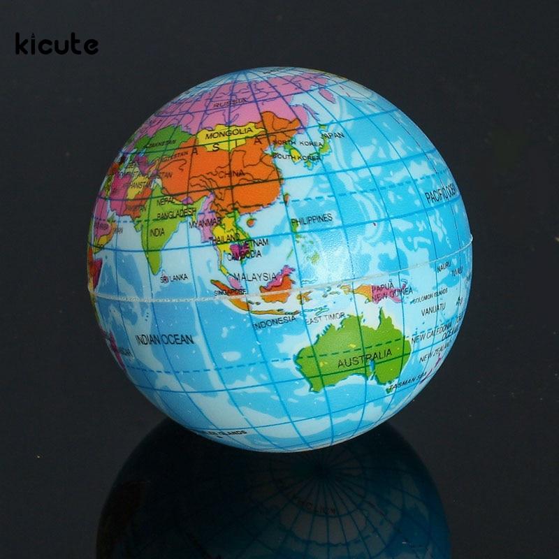 Best buy ) }}Funny Mini Foam World Globe Teach Education Earth Geography Toy Map Elastic Ball Model Crafts