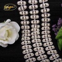 1 Yard Gold Silver Beaded Pearl Rhinestone trim Bridal Crystal Trim Wedding Applique Belt Pearl Crystal Rhinestone