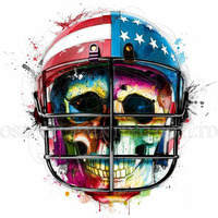 Top Quality New Design Abstract Colorful Modern Art Painting American Football Player Oil Painting on Canvas Skeleton Artwork