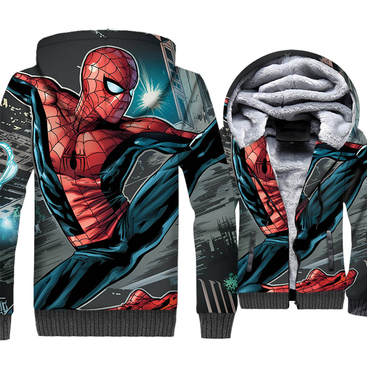 2019 New Arrival Cool Fashion Spiderman 3D printed Thick Hoodies Men's Harajuku Sweatshirts Hip Hop Spring Autumn Streetwear Man