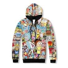 PLstar Cosmos 2017 heißer verkauf Männer Frauen Hoodies Sweatshirt Cartoon Rick und Morty druck mode Hoodie casual Pullover
